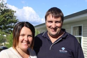 Amanda and Bryce from Qualitas Builders