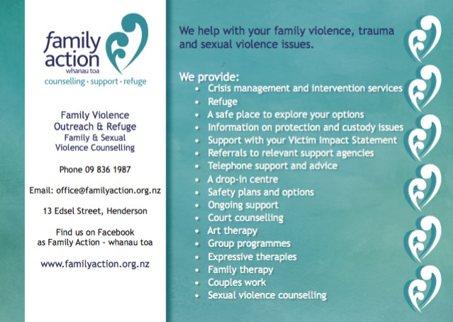 Postcard design listing Family Action services | Community support | Buzz Marketing