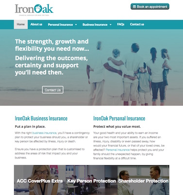 IronOak new website build by Buzz Marketing
