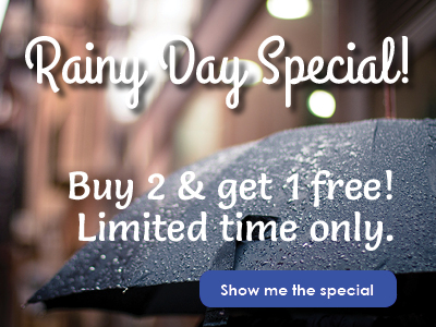 One day specials offer a quick sale