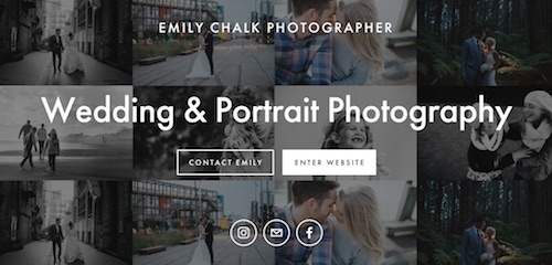 Squarespace Website by Buzz Marketing for Emily Chalk Photographer | Case Study